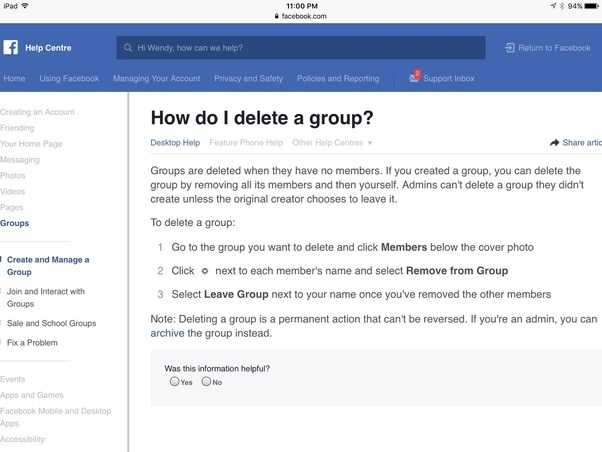 Can you delete a group on facebook quora ccuart Image collections