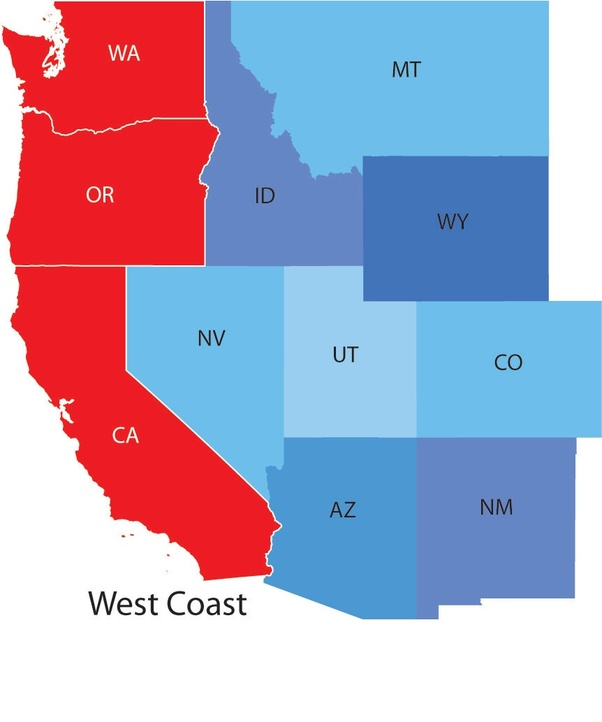 What is the time difference between east coast and west coast Quora