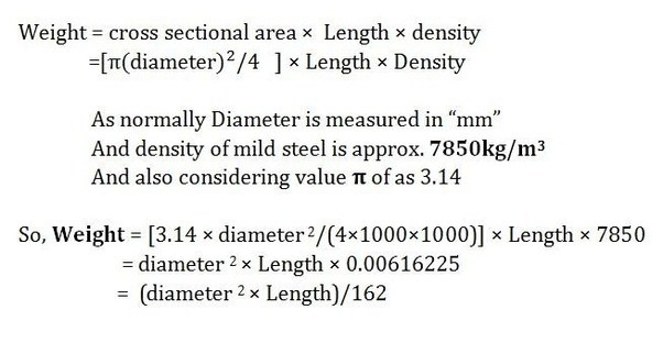 How To Calculate The Weight Of Reinforcementsteel Bars Of Different