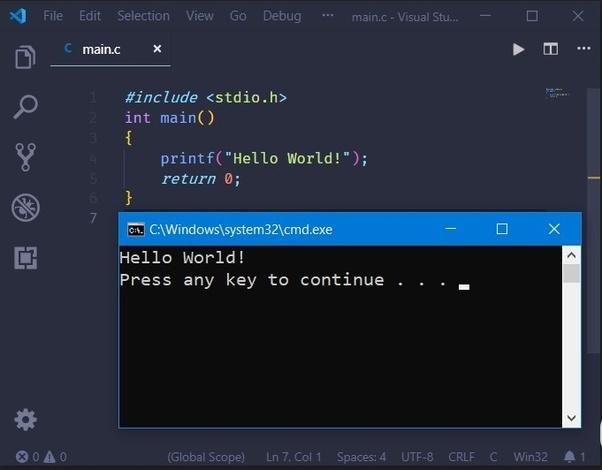 How to run a C program in a Visual Studio Code - Quora