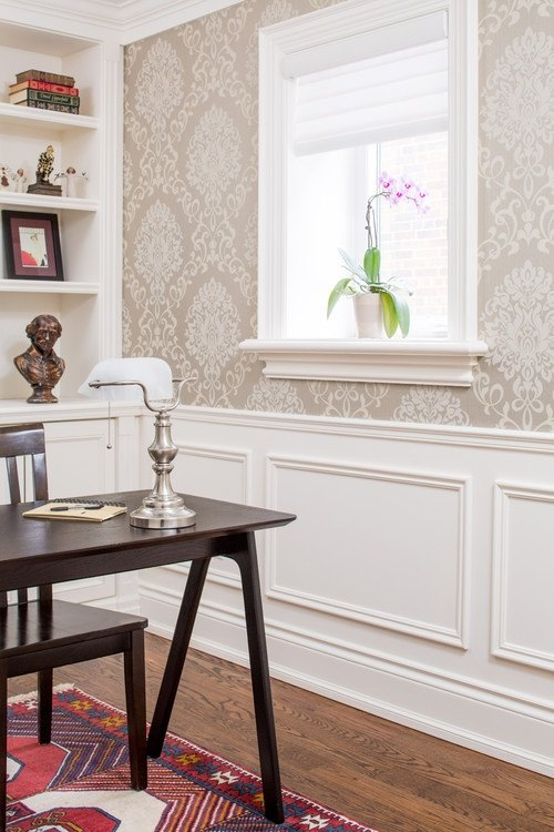 home office wall color. Image: Lumar Interiors Home Office Wall Color