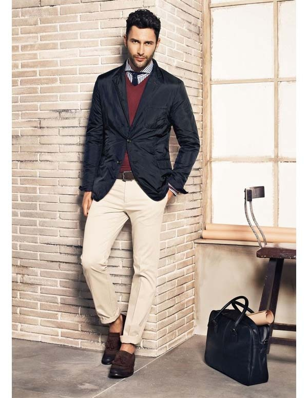 Sport jacket khaki pants