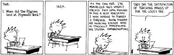 Image result for calvin and hobbes school quotes