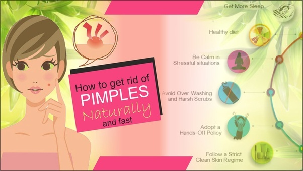 how to get rid of small pimples on forehead