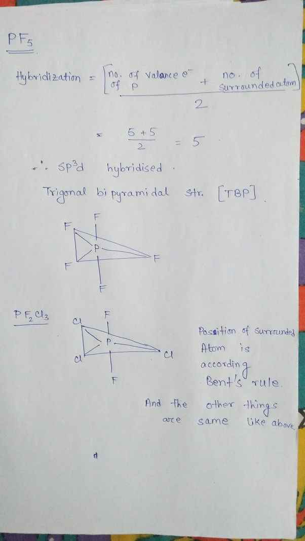 What Is The Structure Of Pf5  And How Can We Explain Its