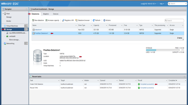 Who can help me create an ISCSI storage for VMware ESXi with FreeNAS