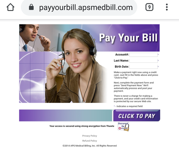 Is Payyourbill Apsmedbill Com Sending Scam Medical Bills Or Are They Legit Quora