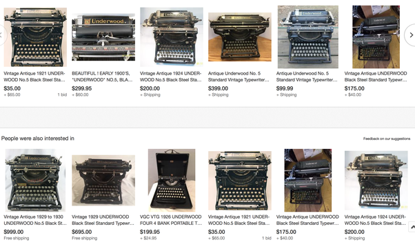 An Antique Underwood S For 50 To 300 With Most Ing 200 Or Less Here A Quick Look At Handful Available On Ebay Right Now