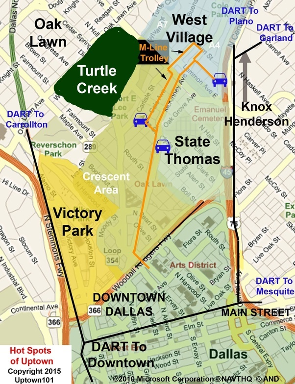 What is considered uptown in Dallas TX Quora