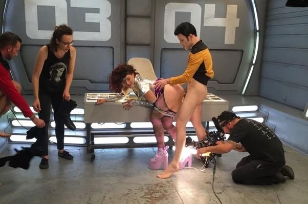 Porn movie set