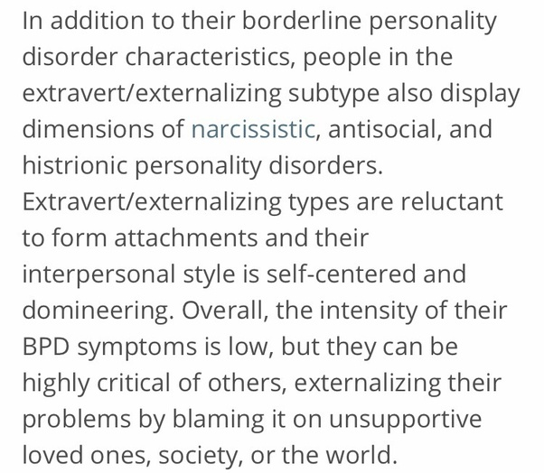 Are there different types of borderline personality? - Quora
