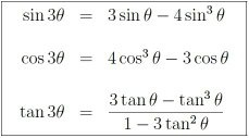 Could someone list all the trigonometry-related formulas for