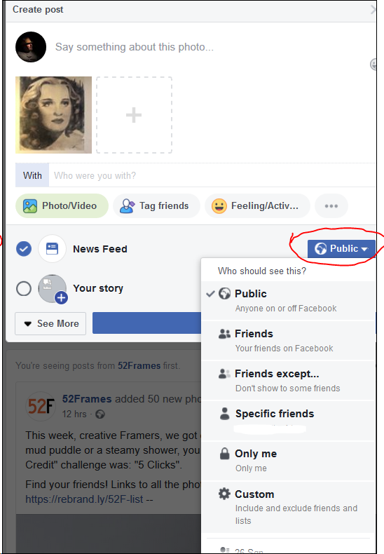 How to upload photos to Facebook without it posting on