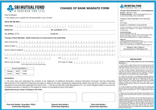 Pdf in sbi mobile change request number form