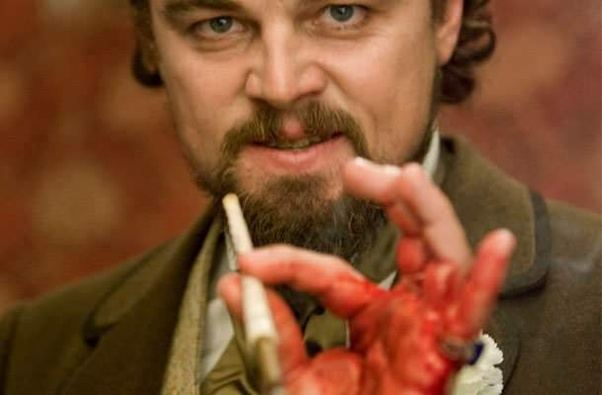 Image result for django unchained leonardo dicaprio hand