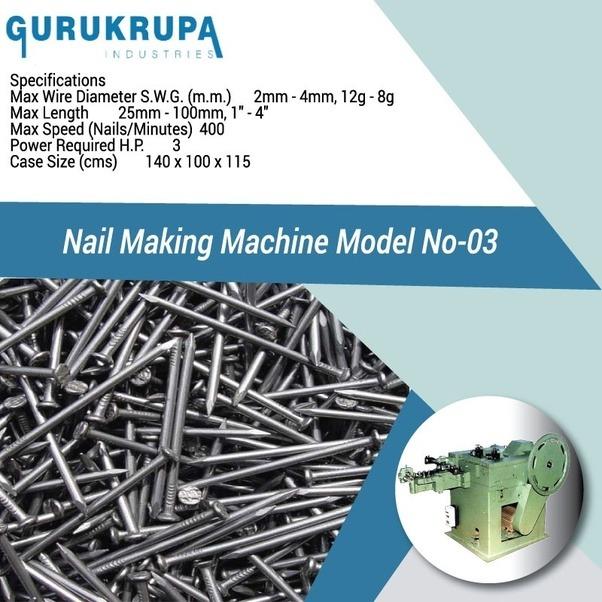 Automatic Nail Making Machine - Wire Nail Machine - Quora
