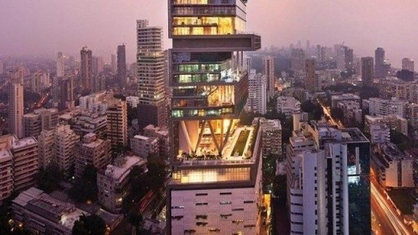 The Home Of Mukesh Ambani Is Palatial Tower Antilia That Towers Above Skyline Mumbai Reminding Everyone This Where Richest Man In