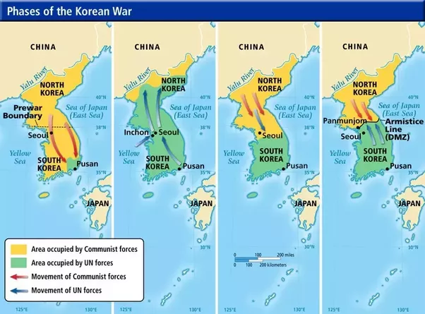 Map Of Asia During Vietnam War.Why Was The Korean War So Different From The Vietnam War Quora