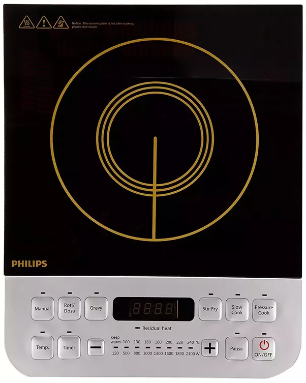 Philips Viva Collection HD4938/01 2100 Watt Induction Cooktop With Sensor  Touch