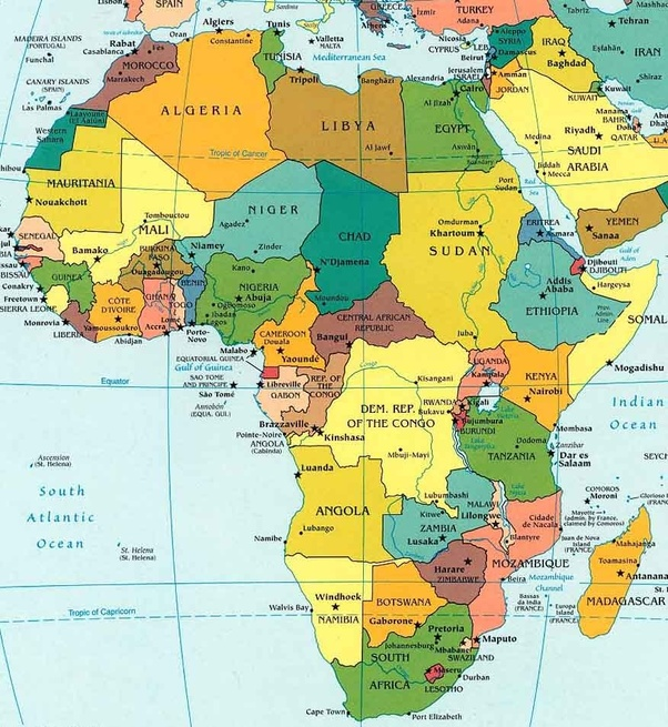 What three countries in Africa lies on the equator?   Quora