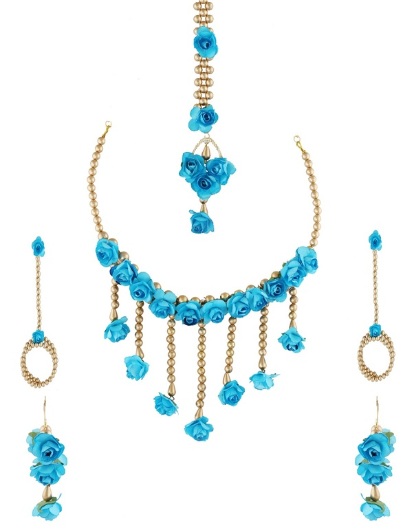 Where Can I Buy A Flower Jewellery Set For Haldi Mehendi Quora