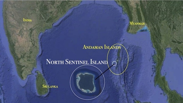 Image result for andaman islands sentinel island map