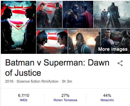 why does batman vs superman has bad rotten tomatoes imdb and critic
