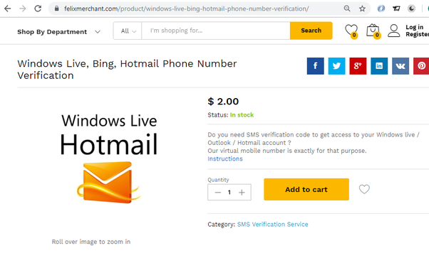How to create a Hotmail verification with virtual numbers