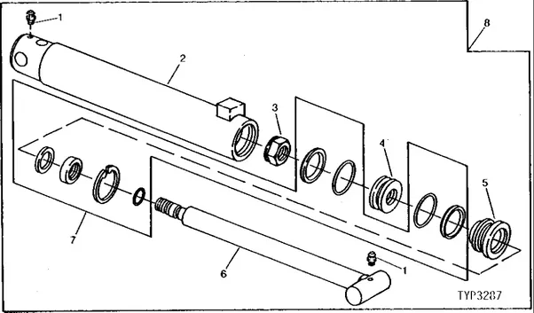 hydraulic cylinder removal diagram