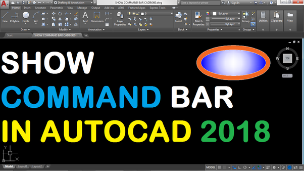 How to get back my AutoCAD command bar - Quora