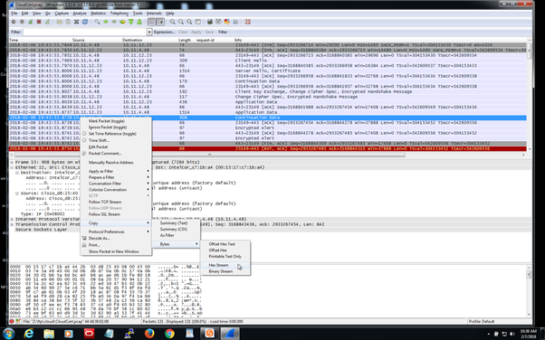 How to extract only the Hex from a Wireshark stream - Quora