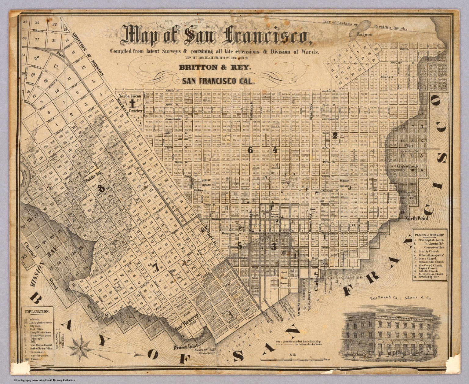 How much of San Francisco is built on landfill? - Quora Yerva Buena California Gold Rush Map on