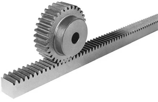 The Rack And Pinion Is Steering System On A Car When You Turn Wheel Gears Push Wheels To Right Or Left