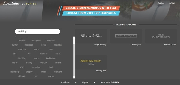 Which is the best free video app to make wedding invitations