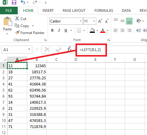 How to extract the first and second number of any string in a column