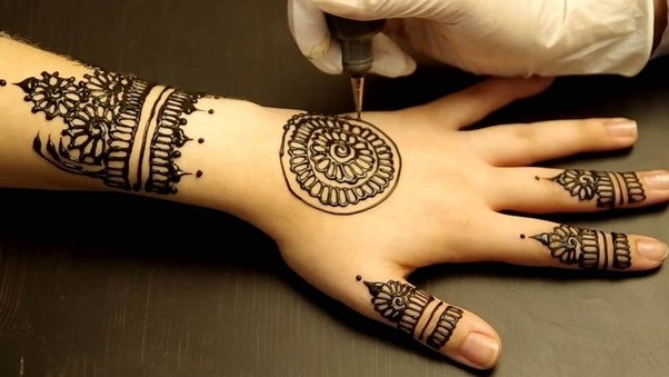 Mehndi Wrist Tattoo : Can you draw with mehndi over a tattoo quora