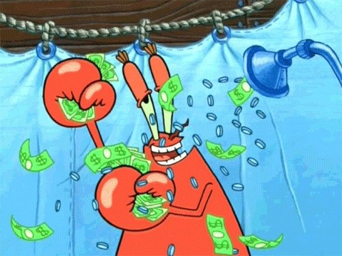 Why do people make fun of mr krabs from spongebob squarepants quora one episode his back was hurting him because his mattress was real lumpy and bumpy all because the crab keeps all his money hidden under the pillow publicscrutiny Images