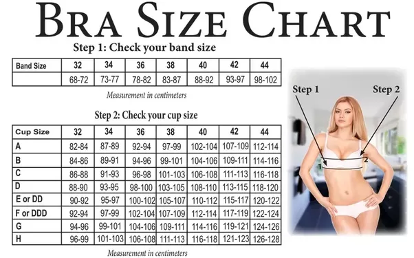 An underwire size 30 width has a curvature diameter of 3-inch 5/6 ≈ cm and this diameter increases by ⅓ inch ≈ cm by size. The table below shows volume calculations for some cups that can be found in a ready-to-wear large size shop.