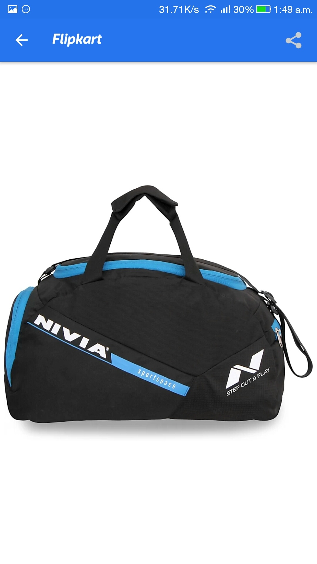 3201b41419 Nivia Sports Pace 01 Multi-Purpose Bag - Buy Nivia Sports Pace 01  Multi-Purpose Bag Online at Best Prices in India - Gym