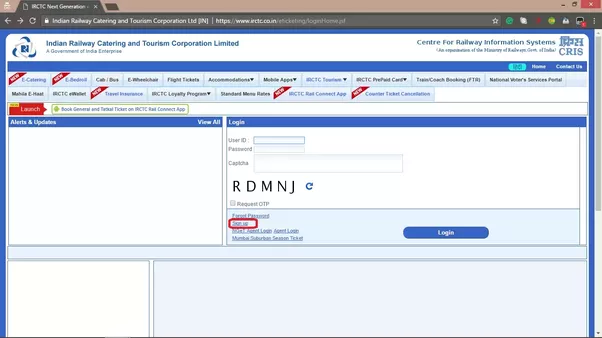 Indian Railway It is simple to follow the IRCTC login or sign up process.  For Login to the IRCTC you must register in the site providing all your  details in ...