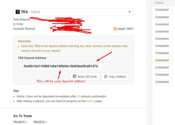 transfer bitcoin to binance