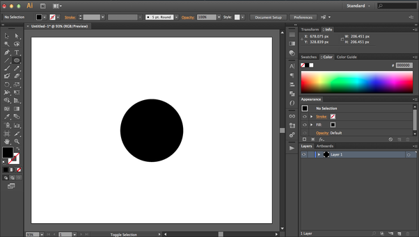 how to create a semicircle in illustrator