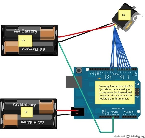How to power three servomotors and an Arduino UNO using a single 12 ...