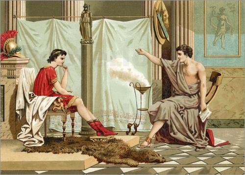 Resultado de imagem para aristotle and alexander
