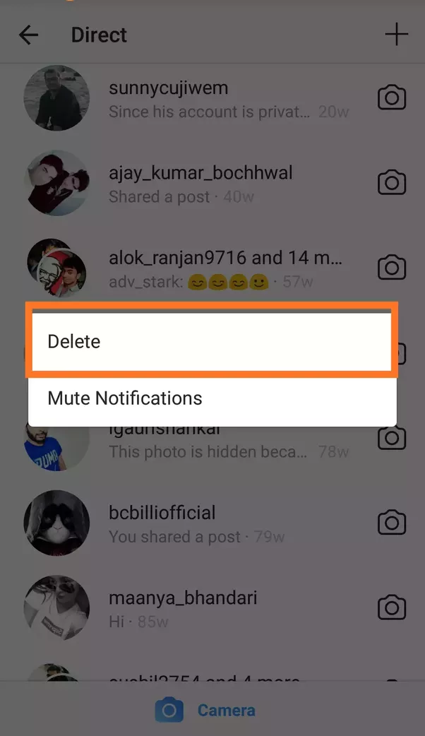 Can you delete direct messages on instagram quora you will see two options delete and mute notifications you need the proof of it then better see the figure below ccuart Gallery