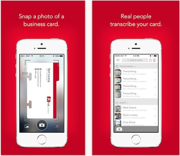 What are the best human transcription business card scanner apps fullcontact card reader free of cost scanbizcards colourmoves