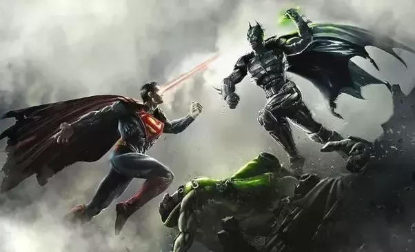 In The Comic Book Miniseries Dark Knight Returns Batman And Superman Fight Long After Justice League Is Disassembled