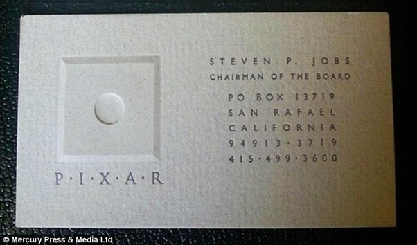 What Font Is Used On Steve Jobs Pixar Business Card Quora