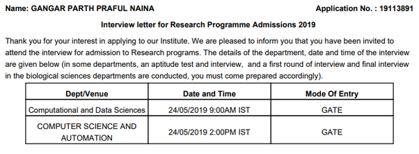 What type of questions are asked in IISc for research