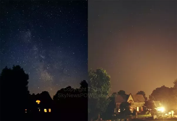 Left dark sky and less light. Right  light in stars out - the city & Which are the worldu0027s best places to see a clear night sky full of ...